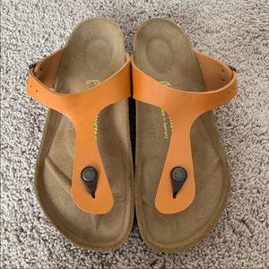 Yellow Birkenstock Sandals sz 39